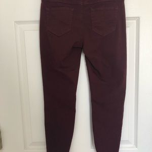 Blue Spice Pants - Maroon Crop Skinny Jeans